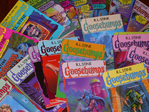 goosebumps books collage