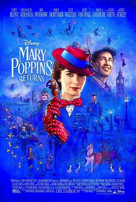 mary poppins returns movie poster 2018