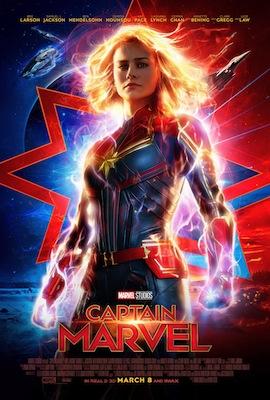 captain marvel 2019 movie poster