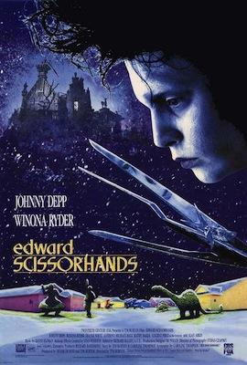 edward scissorhands 1990 movie poster