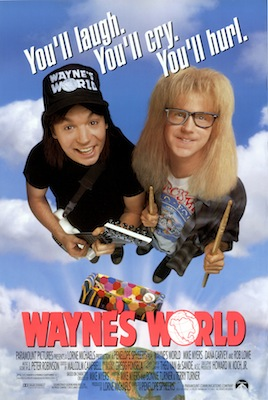 waynes world 1992 poster