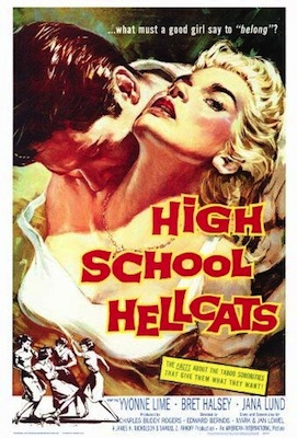 high school hellcats 1958 movie poster