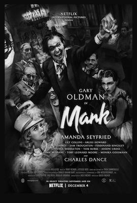 mank 2020 movie poster