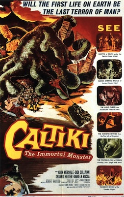 caltiki the immortal monster 1959 movie poster